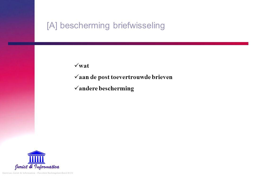 [A] bescherming briefwisseling